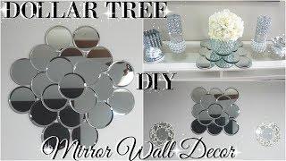 DIY DOLLAR TREE MIRROR WALL ART 💎  DIY DOLLAR STORE GLAM ROOM DECOR 💎 PINTEREST DIY