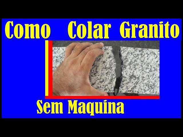 Como Colar (reparar) peças de mármore e granito que quebrou