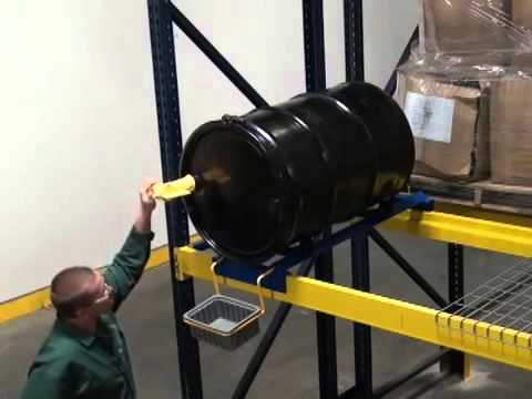 Pallet Rack Drum Cradle