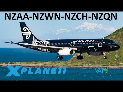 X-Plane 11 | New Zealand!! | A320 B737 | VATSIM | Auckland, Wellington, Christchurch & Queenstown!!