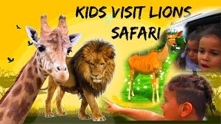 Family trip to Safari ( Animal Adventure Park Zoo Fun for Kids)