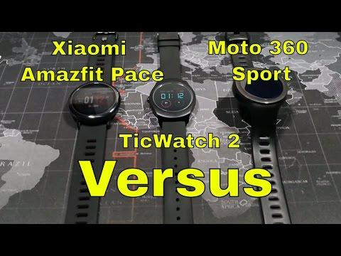 TicWatch 2 vs Xiaomi Amazfit Pace vs Moto 360 Sport