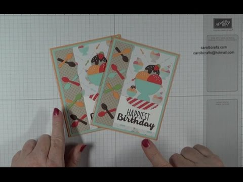 Stampin Up Cool Treats Online Class Project 5 Birthday Card Youtube