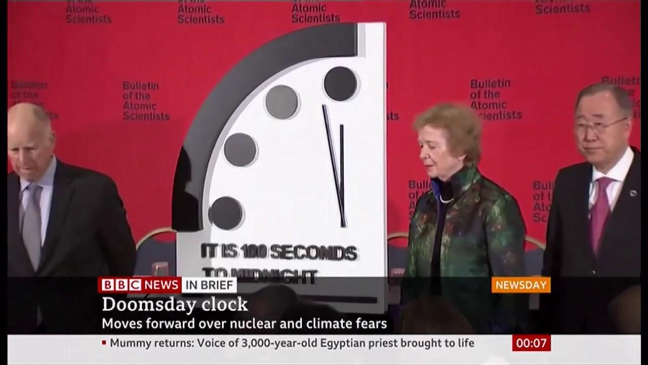 today doomsday clock 2020