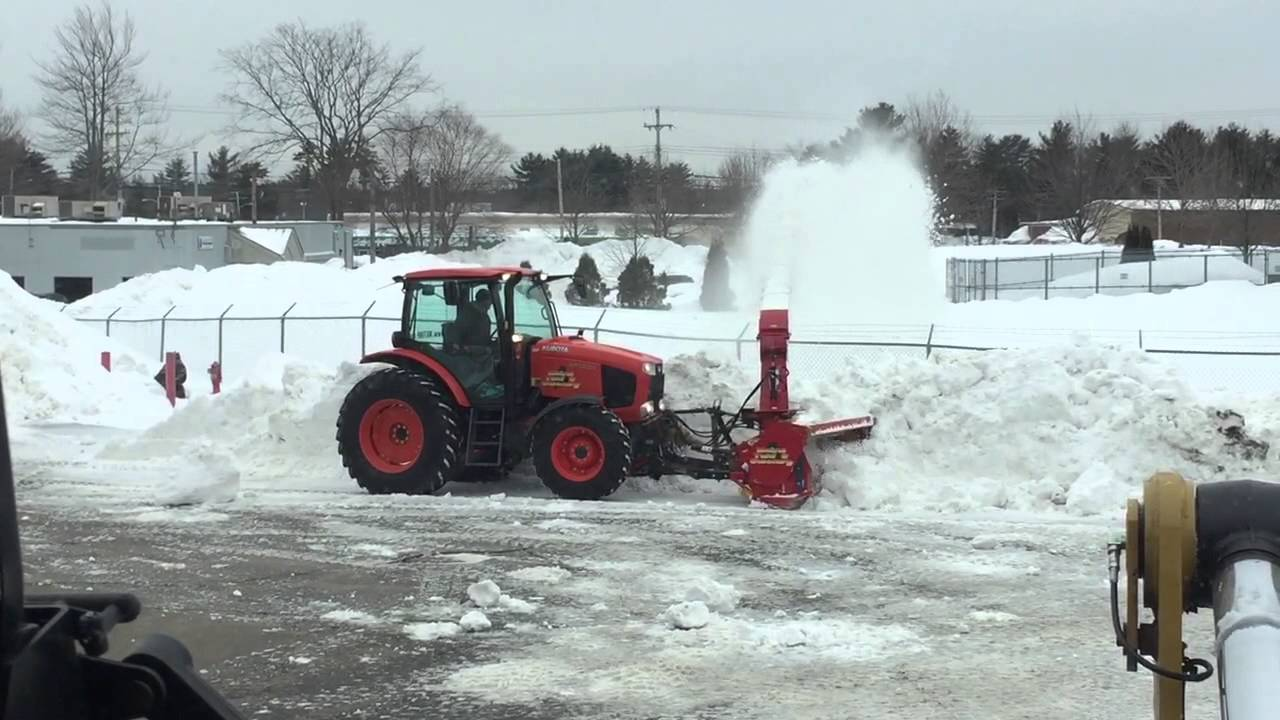 Kubota Tractor Snow Blower Youtube