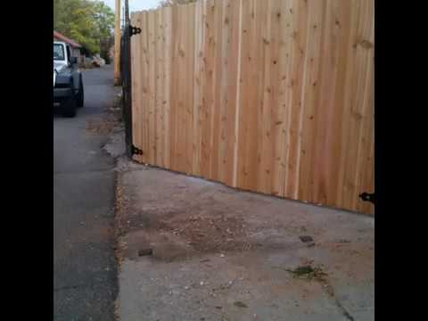 How To Build A Double Gate Made Of Cedar By Keng Fence