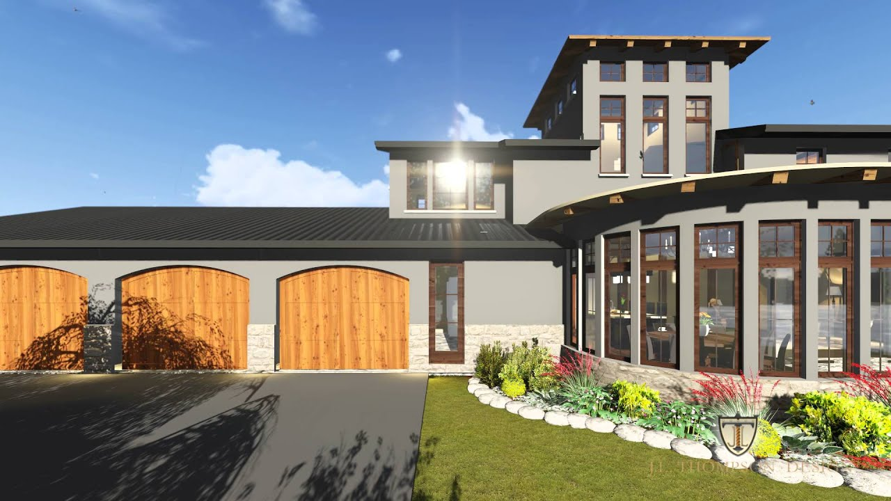 Prairie style custom home design youtube for Home architecture you tube