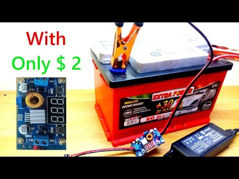 How to Make a 12 volt Battery Charger with a Laptop Charger