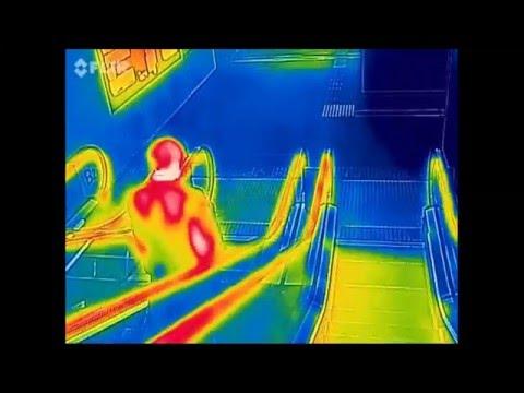 ★Thermo-Man Report★ escalator thermal camera エスカレーター サーモグラフィー ビデオ