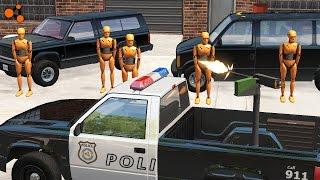 Beamng Drive - Police Chase Machine Gun vs Bandits