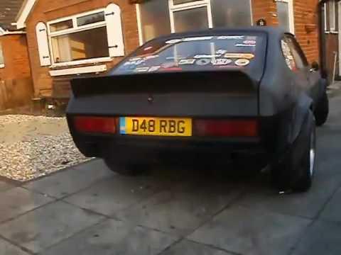 matte black ford capri tuning w ca18det engine sport cars. Black Bedroom Furniture Sets. Home Design Ideas