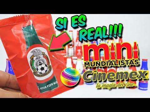 Cinemex MINI MUNDIALISTAS COCA COLA RUSIA 2018 | Mini Botellitas Coca Cola |Mini Botellita Cinemex