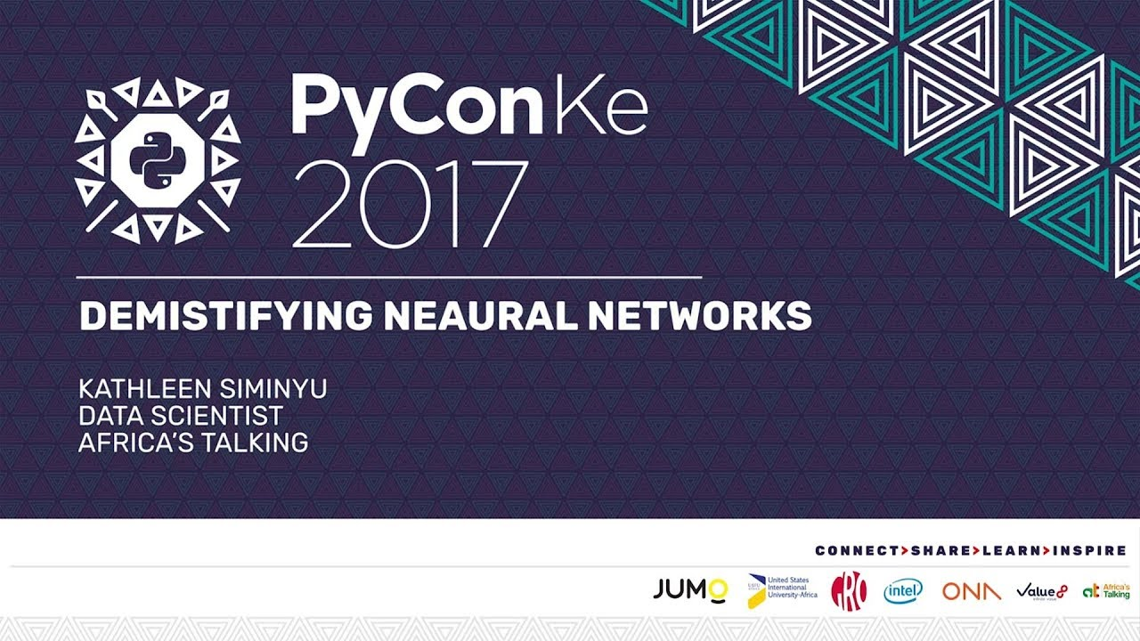 Image from PyCon-KE 2017 - Demystifying (or Unblackboxing) Neural Networks by Kathleen Siminyu