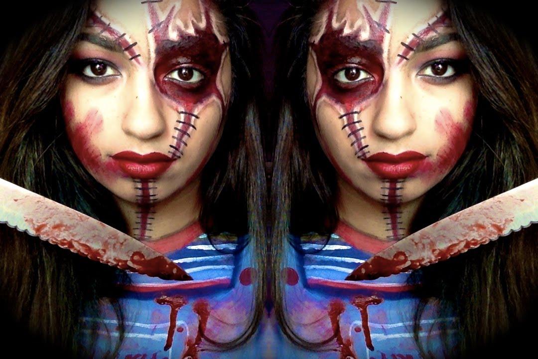 Chucky Makeup Tutorial| Halloween| MakeUpEnPointe - YouTube