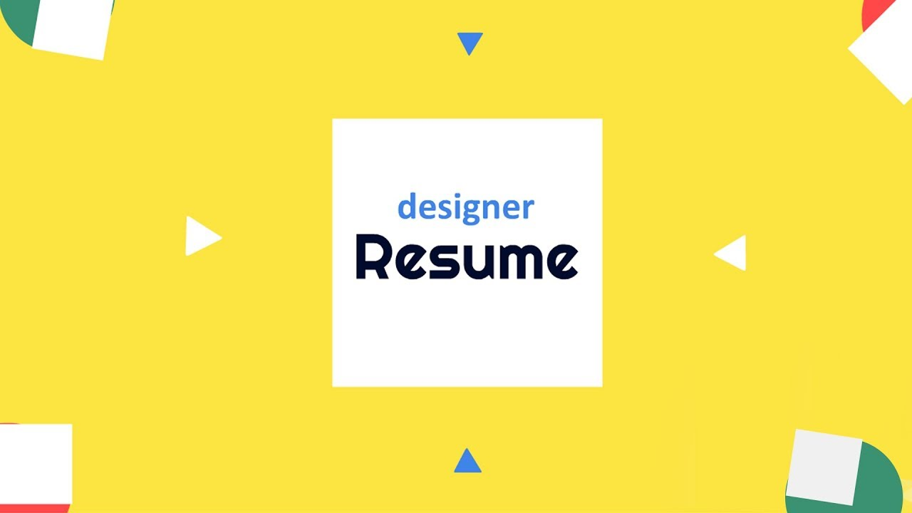 Graphic Designer Resume Animated Video Template Youtube