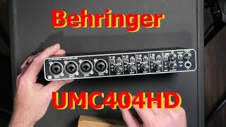 Behringer UMC404HD Unbox and Workout (Part 1)