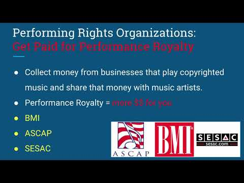 11  #1 Introduction to Performance Rights Organizations