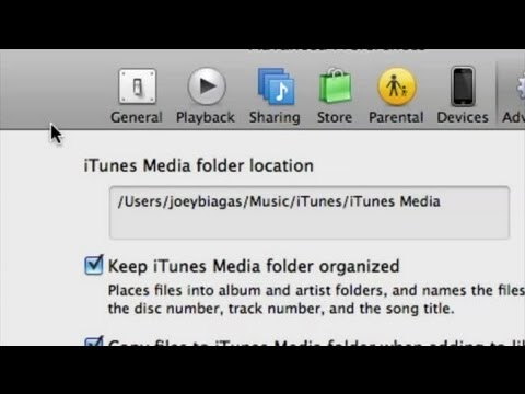 How To Relocate Files In ITunes : ITunes Basics
