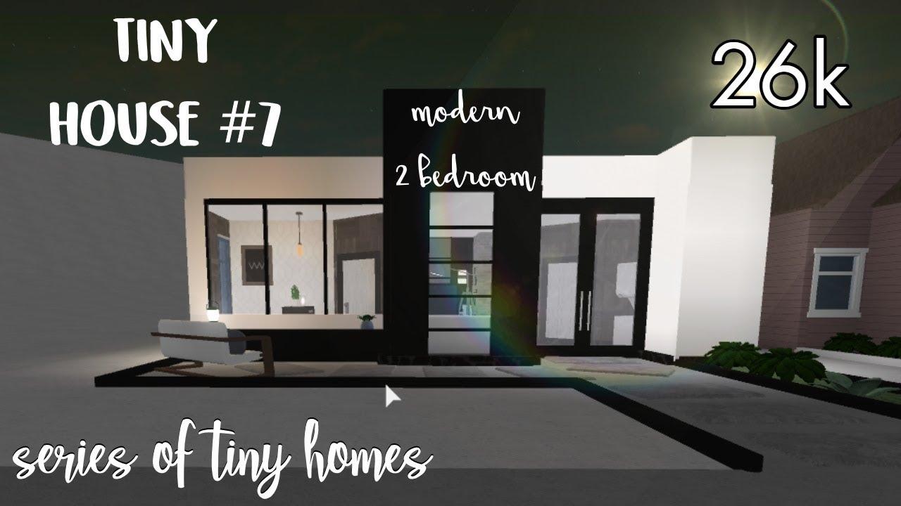 Bloxburg Tiny House 7 Modern 2 Bedroom Series Of Tiny