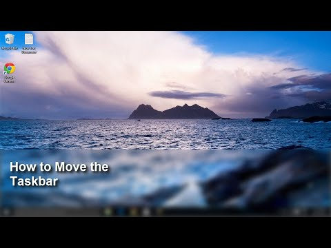 Windows 10 - How to Move the Taskbar