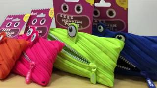 ZIPIT Monster Pencil Case, fits up to 30 pens and pencils. With bright eyes and white 'teeth'