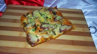 Домашняя пицца. Быстрый и легкий рецепт в духовке.