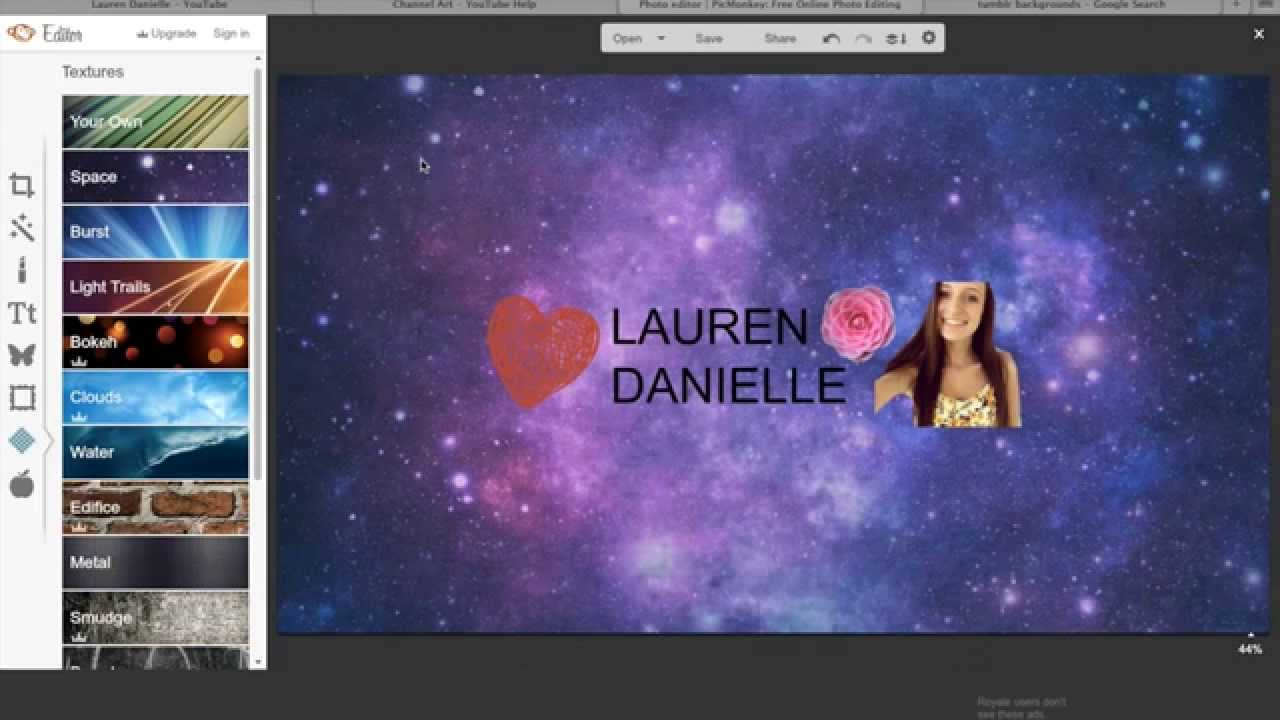 how to make a custom youtube banner tutorial for macbook