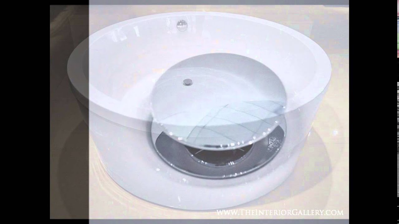 Luxury Acrylic Modern Round Bathtub - Freestanding Bathtub - Soaking ...