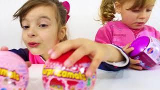 LAURINHA BRINCANDO DE CASINHA ! LAURINHA AND HELENA PRETEND PLAY WITH PLAYHOUSE FOR KIDS