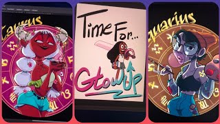 Audity Draws (Zodiac Signs and Cartoon Glow ups) | TikTok Art Compilation #4 from @auditydraws