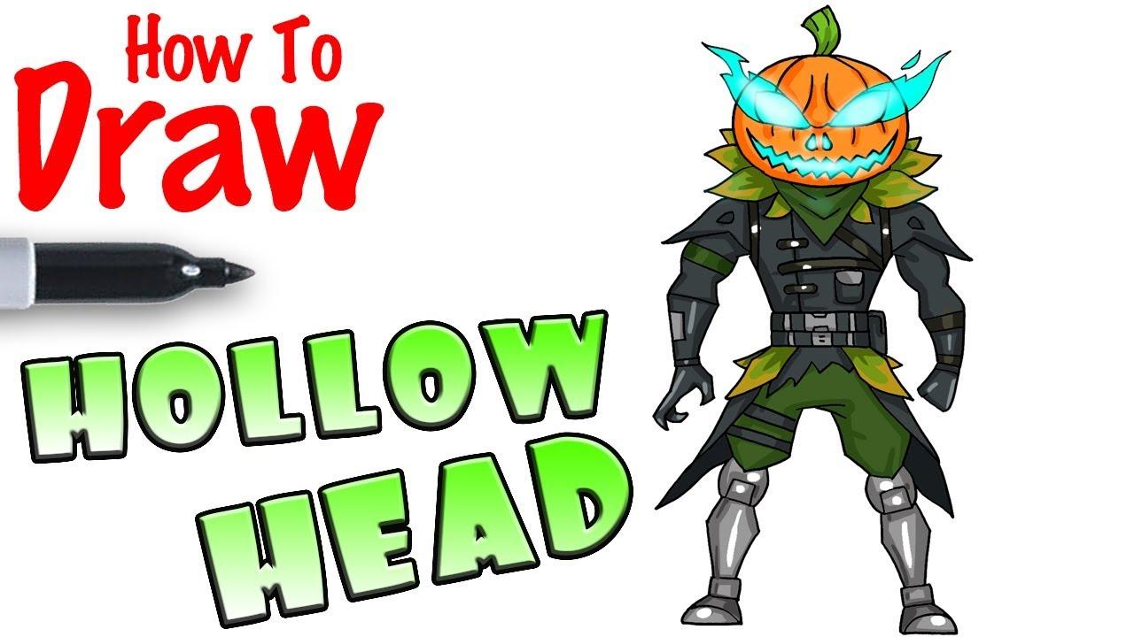 How To Draw Hollowhead Fortnite Youtube