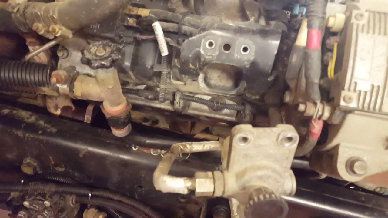 international diesel engine maxxforce  exhaust manifold leak youtube