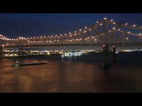 Carnival Dream Cruise Leaving Port from New Orleans at night Pt1
