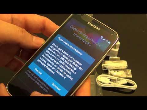 Samsung Galaxy S5 Brasil - Configuração Inicial e Primeiras Impressões
