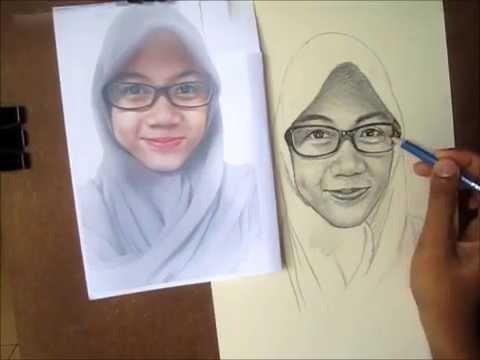 Cara Menggambar Wajah Dengan Pensil Step By Step Youtube