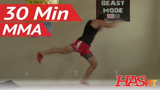 30 Min Knockout MMA Workout - HASfit MMA Conditioning - Home MMA Workouts Exercises UFC Training