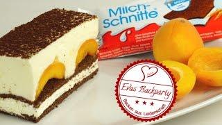 Milchschnittentraum mit Früchten / Kuchen aus Milchschnitte / Sommerrezept / Aprikosen / ohne Backen