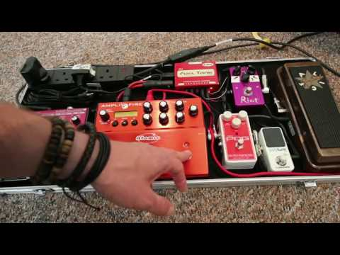 Pedalboard Rundown : Atomic Amplifire Teaching board with Boss RC30 and Suhr Riot, EHX Nano POG