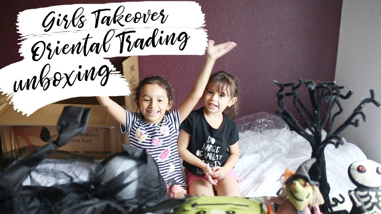 The Girls Takeover Unboxing Oriental Trading Halloween Decorations