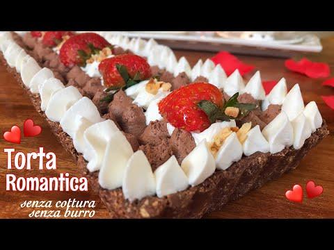 TORTA ROMANTICA SENZA COTTURA SENZA BURRO facile veloce ROMANTIC CAKE WITHOUT COOKING Tutti a Tavola