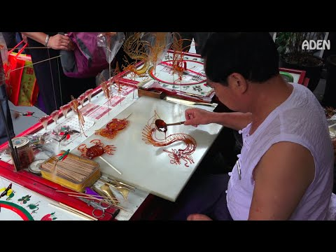 Sugar Painting Art in China - Chinese Dragon 糖画龙