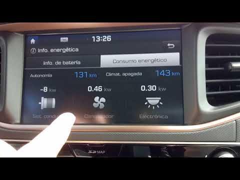 Hyundai Ioniq electrico recorrido final despu s de 105 km a 120 km h.