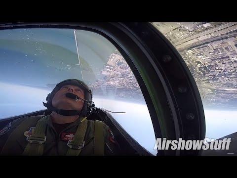 P-51 Mustang Cockpit Cam - Solo Aerobatics - Cleveland Airshow 2016
