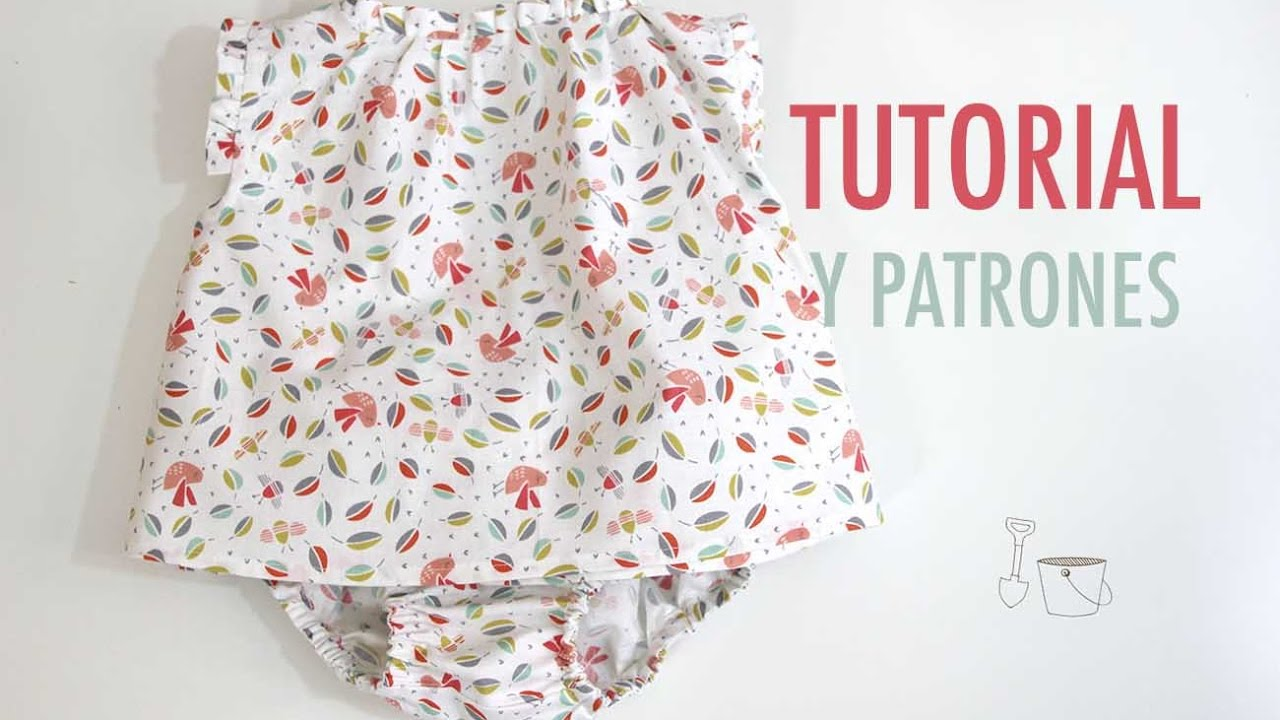 DIY Costura: Blusa para bebés (Tutorial y patrones gratis) - YouTube