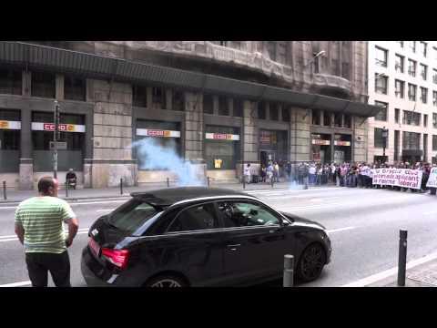 Protest in Barcelona, Spain