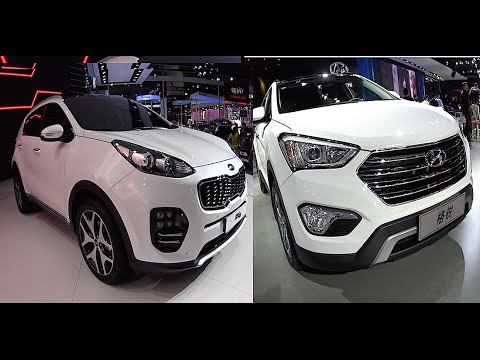 2016, 2017 Kia Sportage, KX3, KX5 VS New Hyundai Santa Fe   YouTube