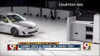 Camry, other Toyota cars perform poorly during crash test