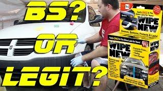 Wipe New Legit or BS  Head light restoration  Faded Trim Restoration
