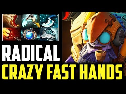 Radical - Tinker Crazy Fast Hand 2x Shiva's Guard Spam Pro Gameplay Dota 2