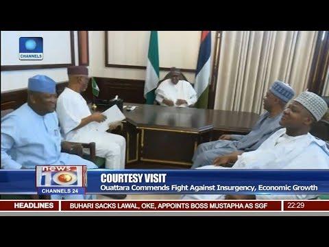 Buhari Hosts APC Chieftains & Cote d'Ivoire President Pt 2   News@10  